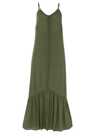 Długa sukienka bonprix ciemny khaki