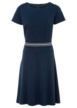 Sukienka z dżerseju bonprix ciemnoniebieski