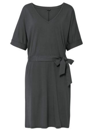 Sukienka z dżerseju bonprix antracytowy