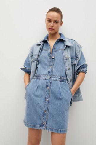 Mango - Sukienka jeansowa Luna