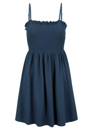 Sukienka z dżerseju na regulowanych ramiączkach bonprix ciemnoniebieski