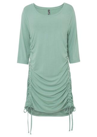 Sukienka shirtowa bonprix zielony pastelowy