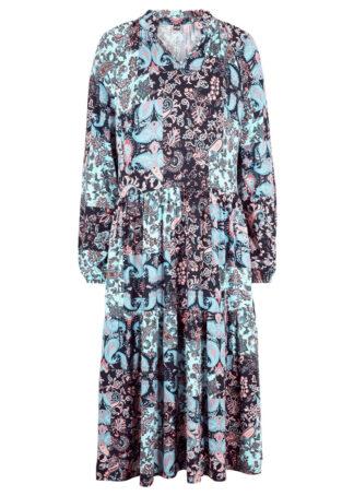 """Sukienka midi z kolekcji Maite Kelly bonprix ciemnoniebieski """"paisley"""""""