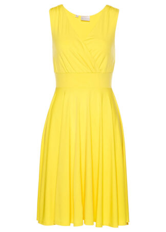 Sukienka shirtowa bonprix żółty