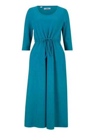 Sukienka z dżerseju z elastyczną wstawką bonprix zielony oceaniczny