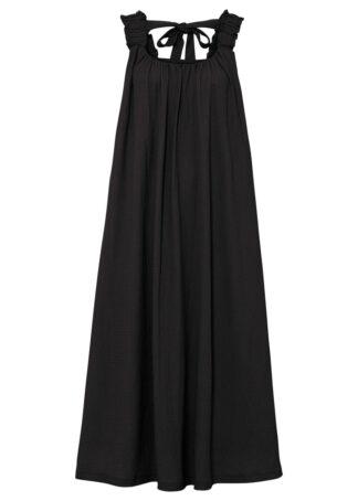 Sukienka midi z kokardką bonprix czarny