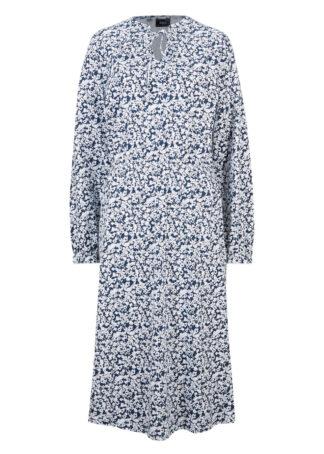 Sukienka midi w kwiaty bonprix ciemnoniebieski w kwiaty