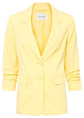 Żakiet oversize bonprix żółty cytrynowy melanż