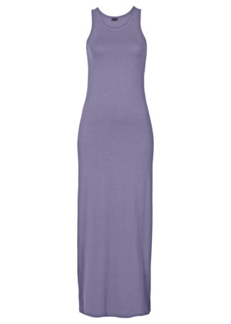 Długa sukienka z dżerseju bonprix dymny lila