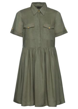 Sukienka szmizjerka bonprix oliwkowy