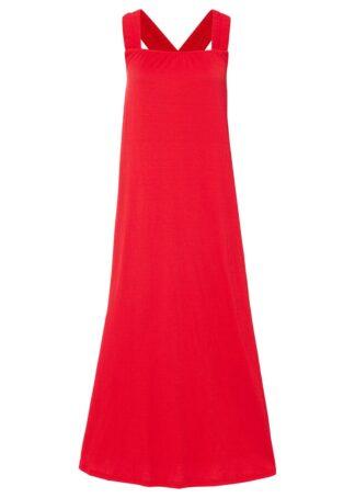Sukienka oversize z krepy bonprix truskawkowy