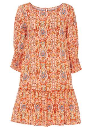 Sukienka bonprix Sukienka pomarańczowy paisley