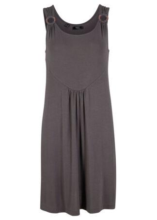 Sukienka z dżerseju bonprix szary łupkowy