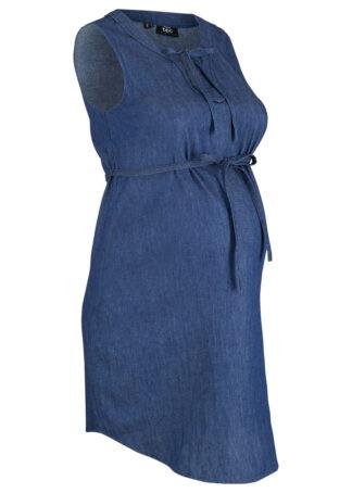 """Sukienka dżinsowa ciążowa bonprix niebieski """"stone"""""""