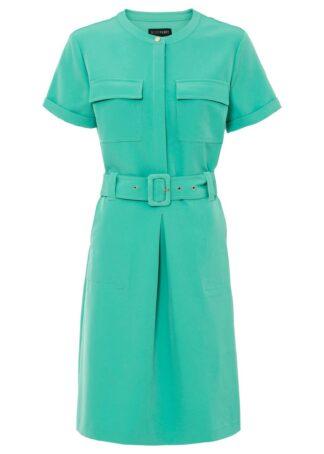 Sukienka z paskiem bonprix turkusowo-zielony