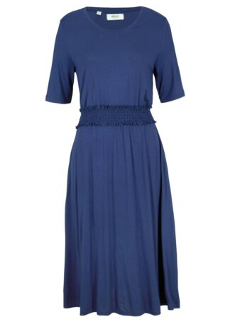 Sukienka z dżerseju z przeszyciem cienkimi gumkami