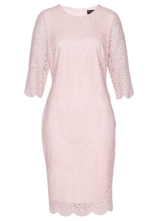 Sukienka koronkowa bonprix pastelowy jasnoróżowy