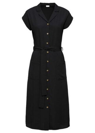 Sukienka koszulowa bonprix czarny
