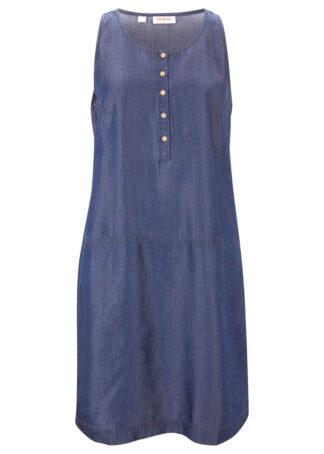 Sukienka dżinsowa TENCEL™ Lyocell bonprix ciemnoniebieski
