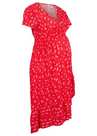 Sukienka ciążowa bonprix truskawkowy w kwiaty