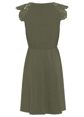 Sukienka z dżerseju bonprix oliwkowy
