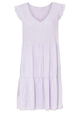Sukienka tunikowa bonprix pastelowy bez