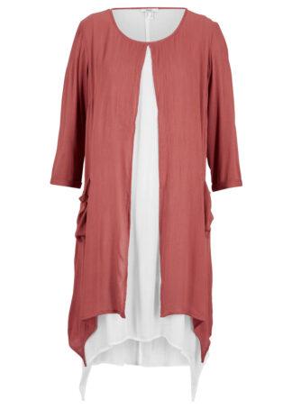 Sukienka z krepy w optyce dwuwarstwowej