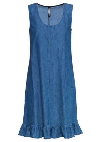 Sukienka dżinsowa bonprix niebieski