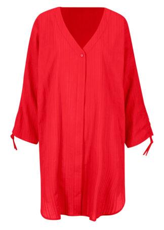Sukienka koszulowa plażowa bonprix czerwony