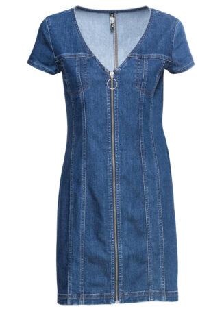 Sukienka dżinsowa z zamkiem