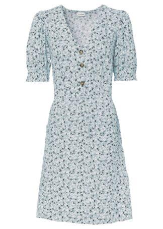 Sukienka z przyjaznej dla skóry wiskozy bonprix pudrowy niebieski w kwiaty
