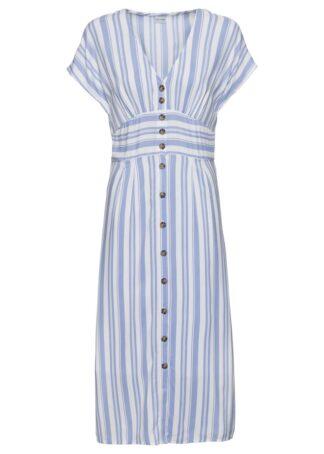 Sukienka z nadrukiem bonprix jasnoniebiesko-biały w paski