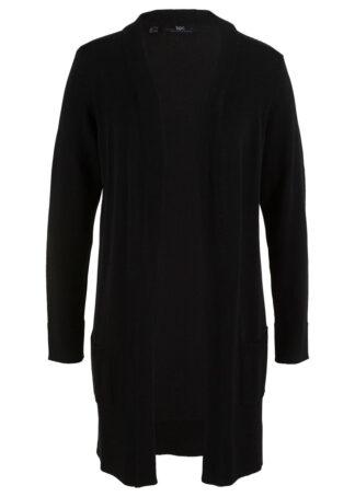 Długi sweter dzianinowy bez zapięcia