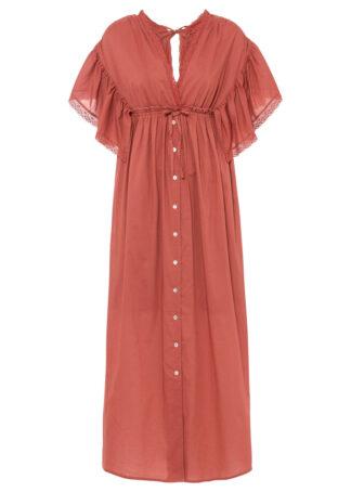 Długa sukienka bonprix brązowy marsala