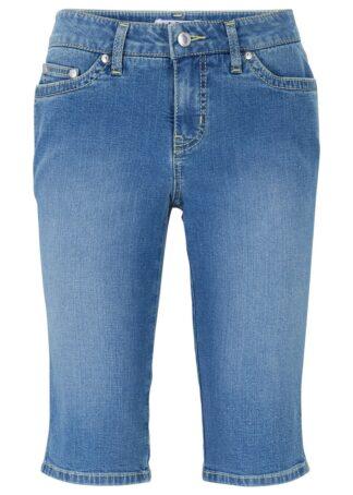 Bermudy z miękkiego dżinsu ze stretchem bonprix jasnoniebieski