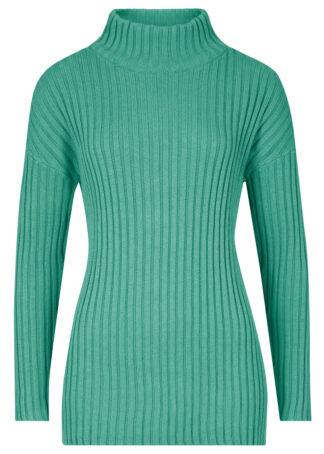 Sweter bawełniany ze stójką bonprix Sweter baweł ze stój z.szał
