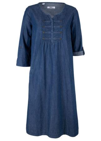 Sukienka z materiału w optyce dżinsu