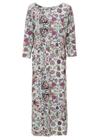 Sukienka kaftanowa bonprix zielony - paisley