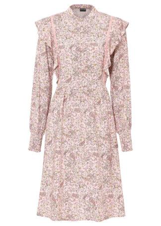 Sukienka koszulowa bonprix jasnoróżowy - paisley