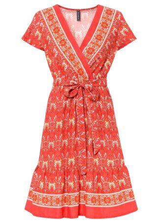 Sukienka bonprix czerwony z nadrukiem