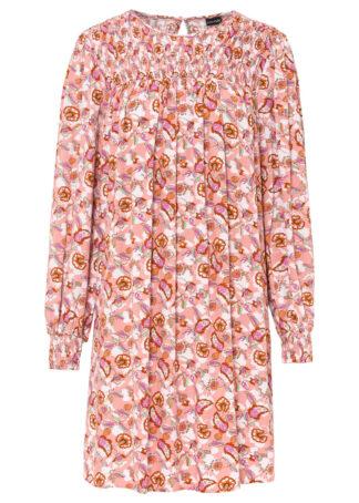 Sukienka oversize bonprix stary jasnoróżowy - paisley
