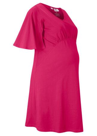 Sukienka ciążowa z bawełny organicznej bonprix różowy