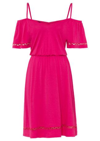 Sukienka z dżerseju z wycięciami