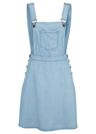 Sukienka dżinsowa ogrodniczka TENCEL™ Lyocell bonprix jasnoniebieski
