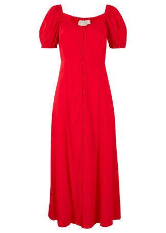 Sukienka z przyjaznej dla środowiska wiskozy bonprix truskawkowy