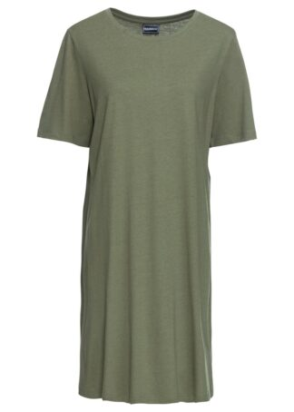 Sukienka shirtowa bonprix oliwkowy