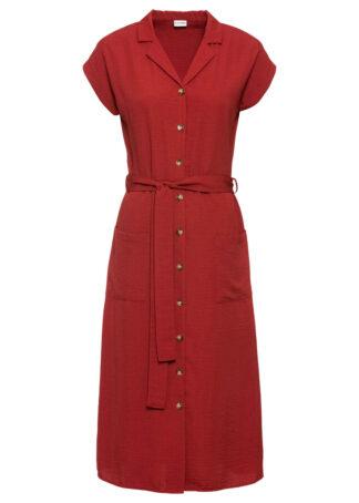Sukienka koszulowa bonprix rdzawoczerwony