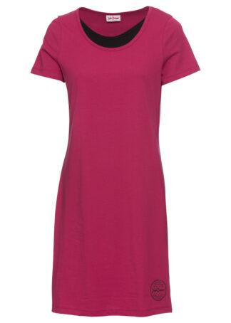 Sukienka shirtowa z bawełny bonprix jeżynowy