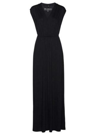 Długa sukienka z dżerseju LENZING™ ECOVERO™ bonprix czarny
