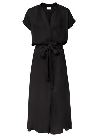 Sukienka szmizjerka bonprix czarny